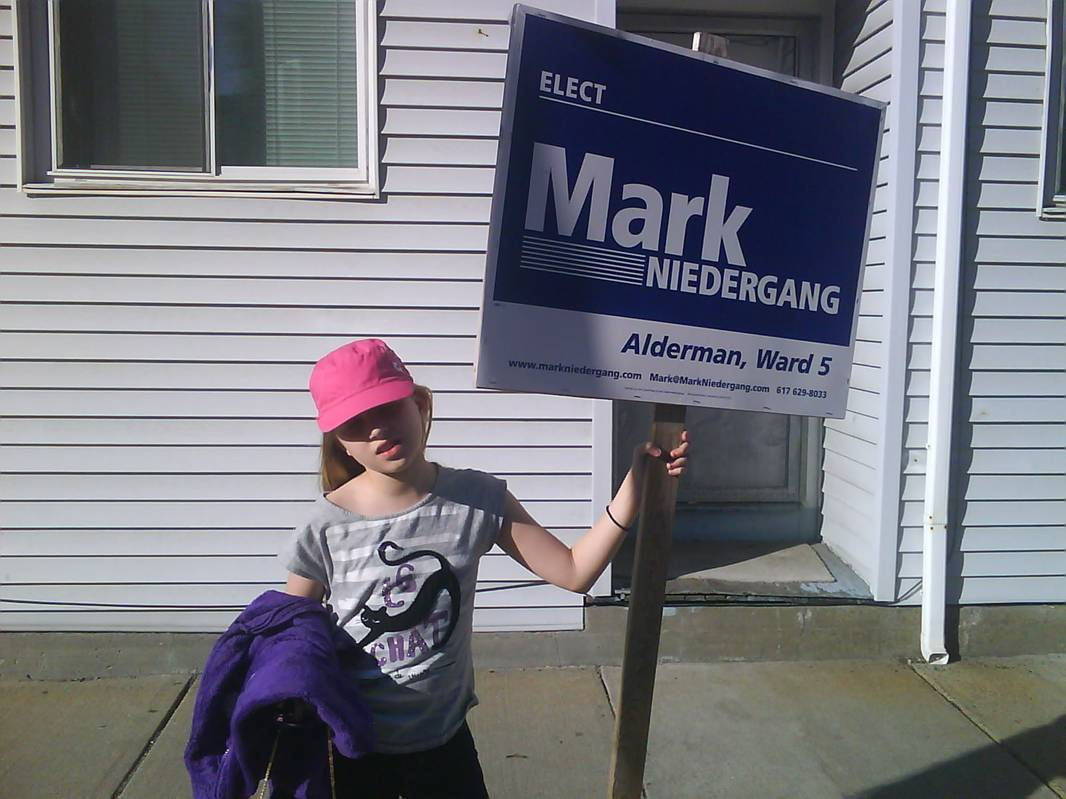 Picture of Kid with Sign for Mark