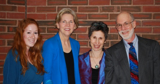Picture of Mark's Family with Elizabeth Warren
